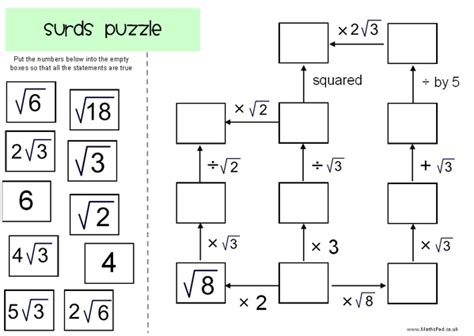 year 10 maths surds worksheet 1000 images about