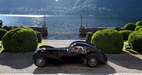 The bugatti type 46 and later type 50 were large enclosed touring cars and along with the type 50b racing version, were all produced in the 1930s. A pretty shot of the Ralph Lauren Bugatti Type-57 SC Atlantic.   Just Pretty Car Stuff ...