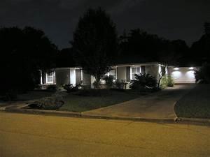 Flood lights on a house picture pixelmari