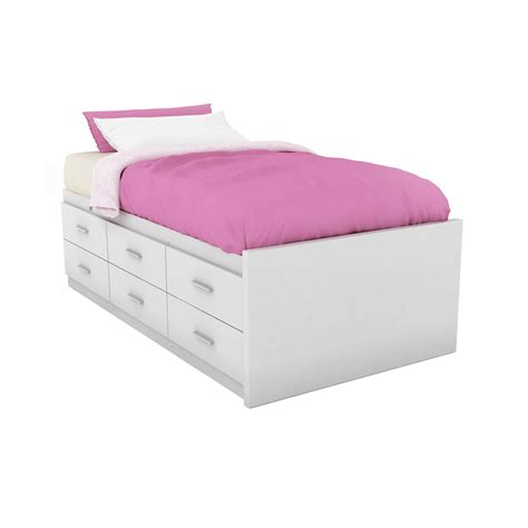 shop sonax willow frost white twin platform bed