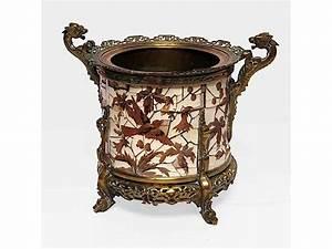 Cache Pot Bois : fernand duvinage pour giroux cache pot en bronze marquet d 39 ivoire et bois pr cieux et autres ~ Teatrodelosmanantiales.com Idées de Décoration