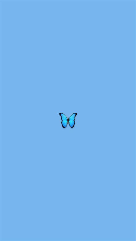 blue butterfly iphone wallpaper aesthetic minimalist