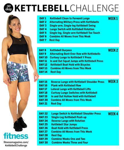 kettlebell workout challenge body workouts total fitness challenges exercises fat monthly abs weight exercise circuit butt ultimate training arms month