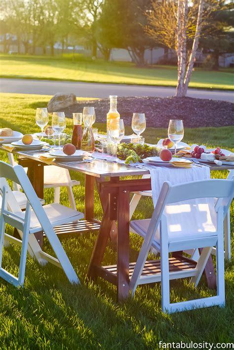 Popup Backyard Dinner Party Fantabulosity