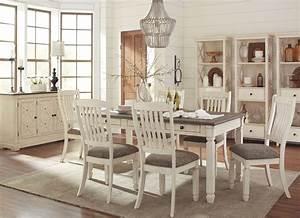 Bolanburg, White, And, Gray, Rectangular, Dining, Room, Set, From, Ashley