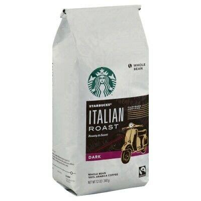 10 best starbucks coffee beans of march 2021. Starbucks Italian Roast Dark Whole Bean Coffee 12oz BB 05/2020 762111622846   eBay