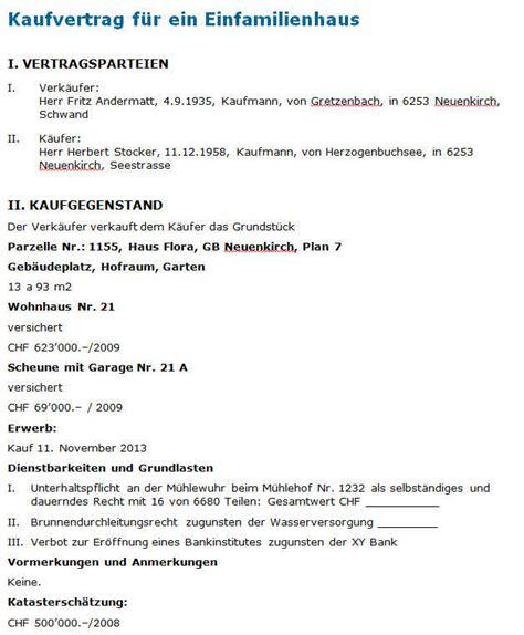 Kaufvertrag Haus Vorlage by Hauskauf Kaufvertrag Haus Vorlage
