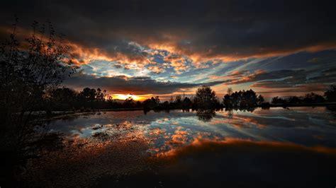 壁紙 夕方下の自然湖 2560x1600 Hd 無料のデスクトップの背景, 画像
