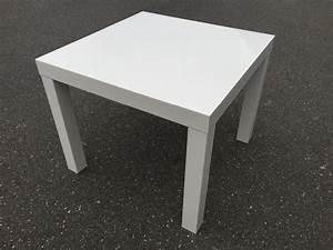 Wei er ikea tisch bxlxh 55x55x45cm wohnzimmer for Weißer hochglanz tisch