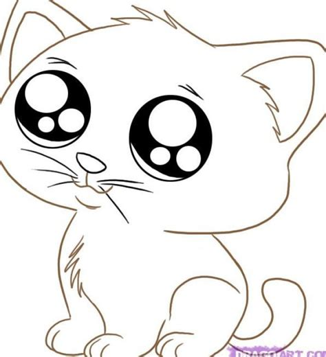 cute cartoon animals  big eyes  draw pets