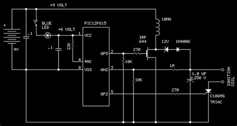 Capacitor Discharge Ignition System ( Pic 16f615 )_circuit