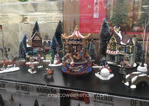 christmas village with lights and music costco weekender