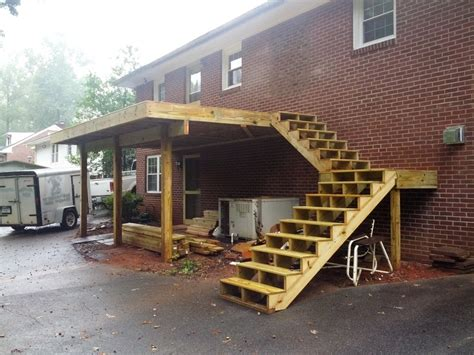 harmonious second floor deck 17 best images about front deck stairs carport on