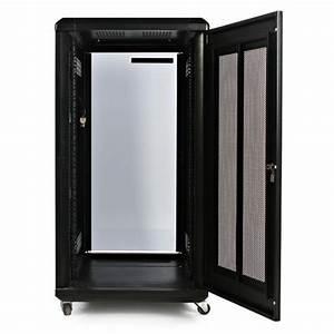 22u 36in Server Rack Cabinet With Glass Door