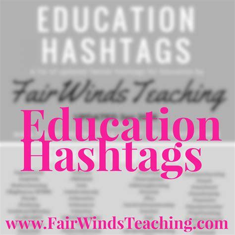 education hashtags general