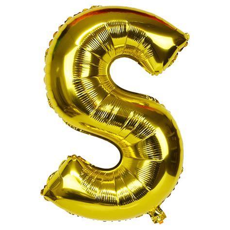 foil letter balloons 30 quot foil mylar balloon gold letter s 16534