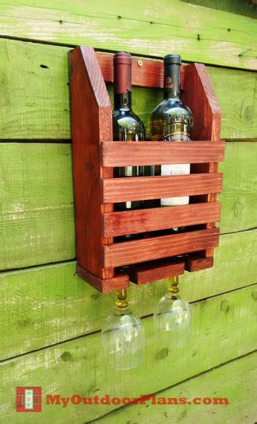 diy wine shelf myoutdoorplans  woodworking plans