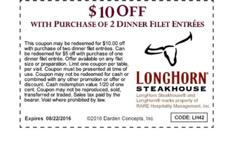 Longhorn Printable Coupons | 2017 - 2018 Best Cars Reviews
