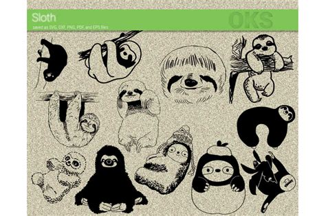 Free vectors are vectorial images that can be downloaded for free on different graphic stock sites, like vexels for example. sloth svg, svg files, vector, clipart, cricut, download By ...