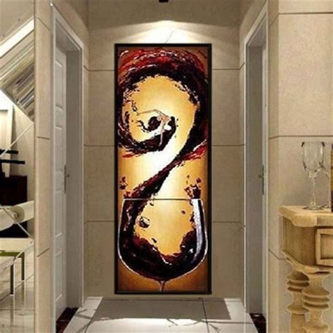 handpainted designed oil painting  kitchen wall