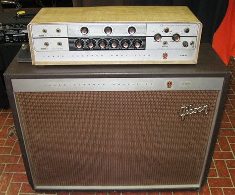 Rare 1960's Gibson Ga-300 Rvt Tube Amp Head And Cabinet