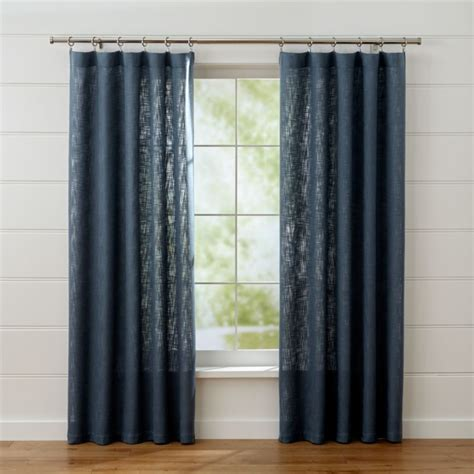 lindstrom blue curtain panels crate  barrel