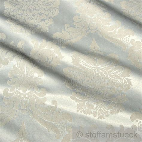 Atlas Stoff by Stoff Baumwolle Polyester Satin Creme Ornament 280 Cm