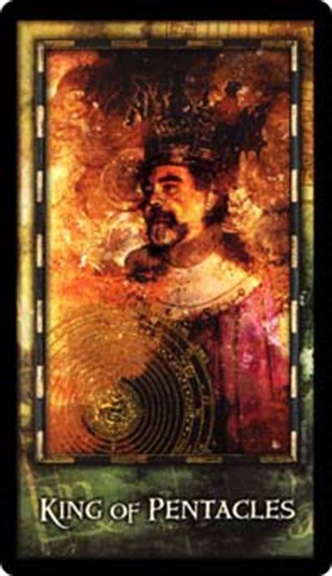 king  coins card   faerie tarot deck