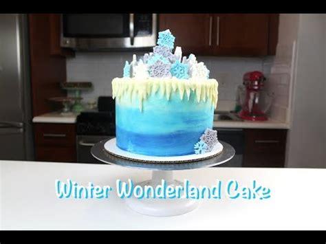 winter wonderland cake chelsweets youtube