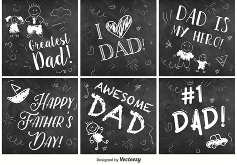 happy fathers day chalkboard signs