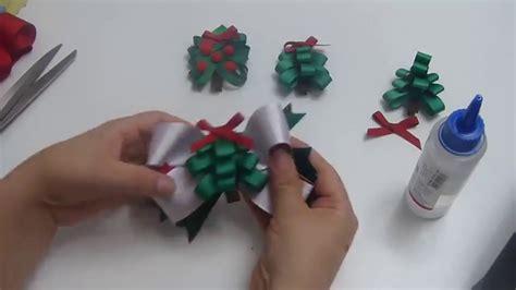 lazos para arbolito arbolito de navidad en cintas para o lazos en cinta paso a paso