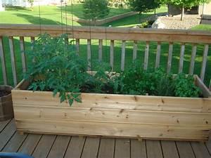 The deck garden today my northern garden for Deck garden box