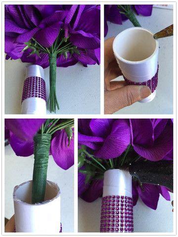 medium  large bouquet handle clipholder bouquets