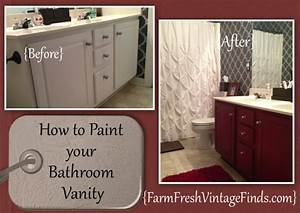 painted cabinet tutorials farm fresh vintage finds With how to paint an old bathroom vanity