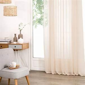 Rideau Voilage Lin : rideau voilage paul 140x240cm lin ~ Teatrodelosmanantiales.com Idées de Décoration