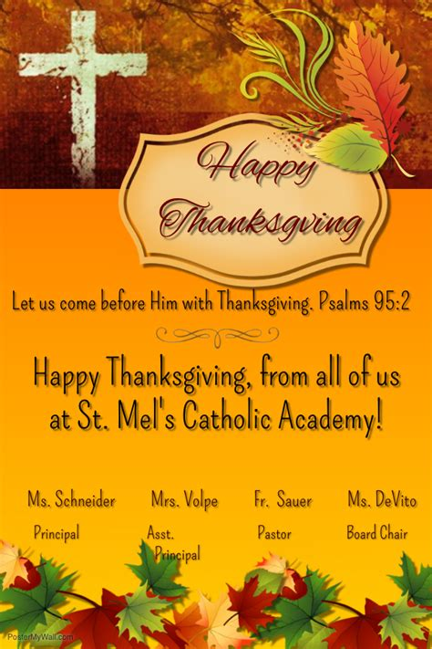 happy thanksgiving st mels catholic academy