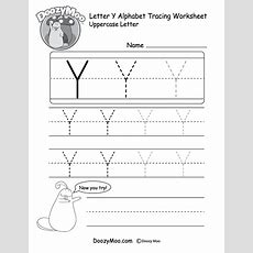 Uppercase Letter Y Tracing Worksheet  Doozy Moo