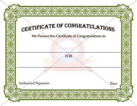 congratulations certificate templates 24 best images about congratulation certificate templates