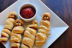 Halloween Mummy Hot Dog Crescent Rolls