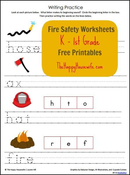 fire safety worksheets  printables  happy