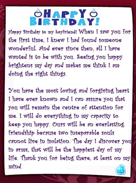 sweet happy birthday letter   boyfriend words