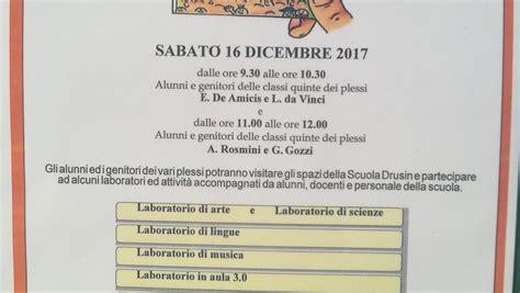 Aperta Il Sabato Mattina by Sabato Mattina Alla Drusin Giornata Di Scuola Aperta
