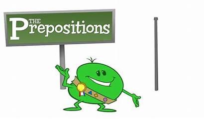 Preposition Clipart Prepositions Grammar Prepositional Words English