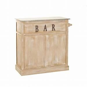 Petit Meuble Bar : meuble bar bois patin zinc 109x46x106cm sandra pier import ~ Teatrodelosmanantiales.com Idées de Décoration