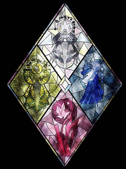 Steven Universe Glass Stained Diamond Authority Murals