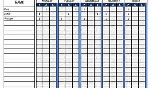 School Attendance Sheet Template Attendance Sheet Word Template Word Templates For Free