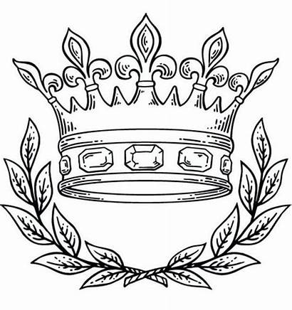Crown Coloring Queen King Pages Clip Intended