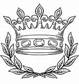 Crown Coloring Queen King Pages Clip Intended Proper Useful sketch template