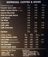 Best 25 Ideas About Coffee Menu