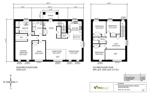 plan of house home energy and design by ekobuilt ottawa custom